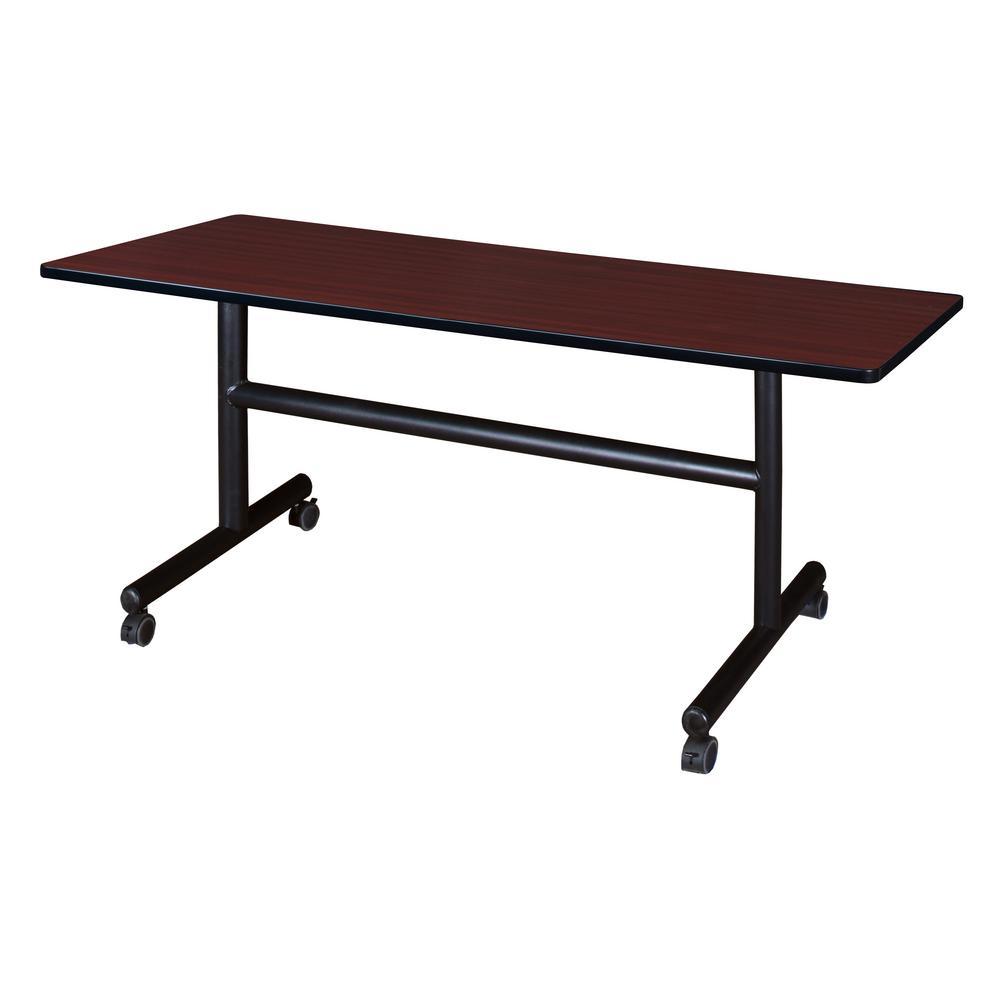 Kobe Mahagony 60 in. W x 30 in. D Flip Top Mobile Training Table