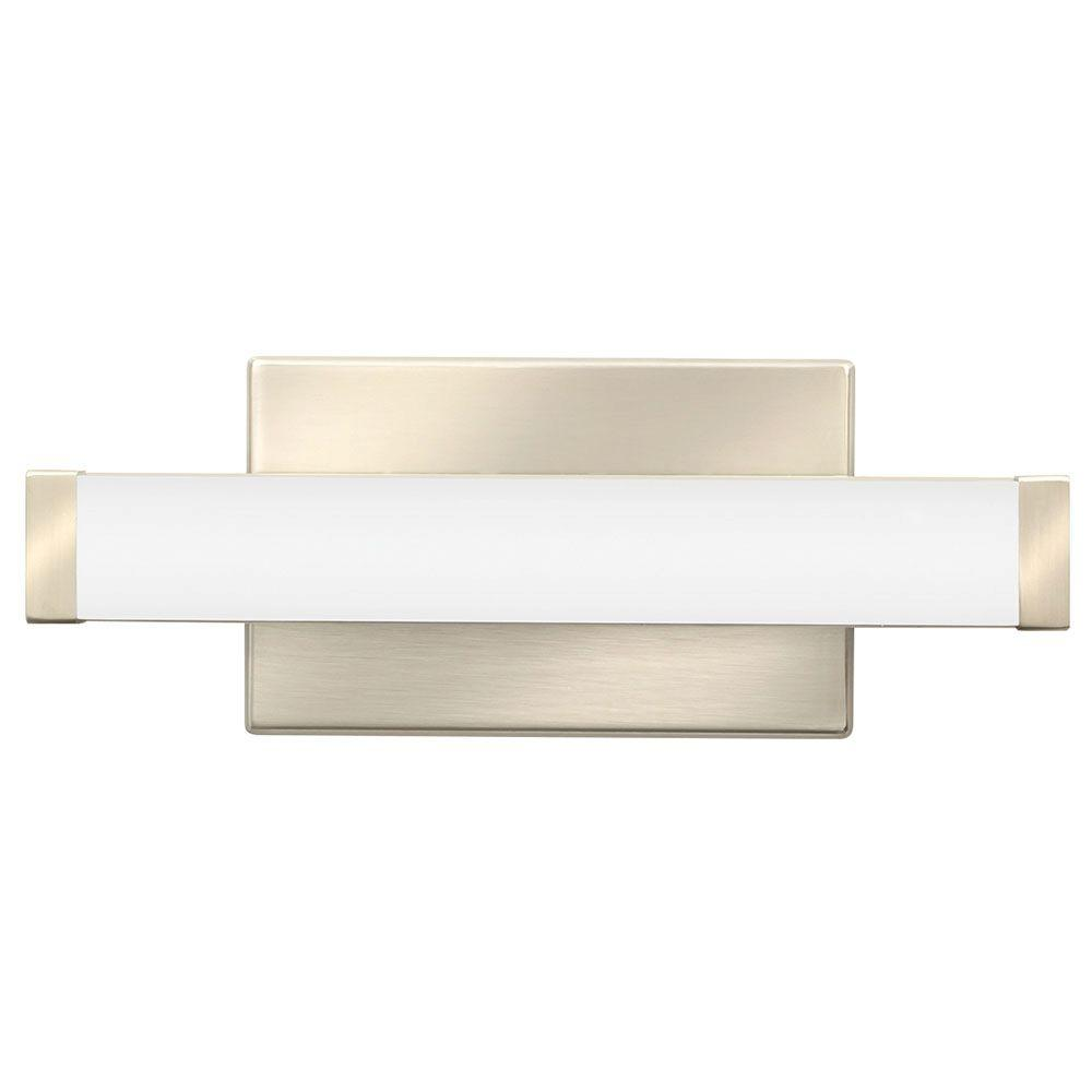 Vanity Light Home Depot: Lithonia Lighting Contemporary Square Brushed Nickel 3K