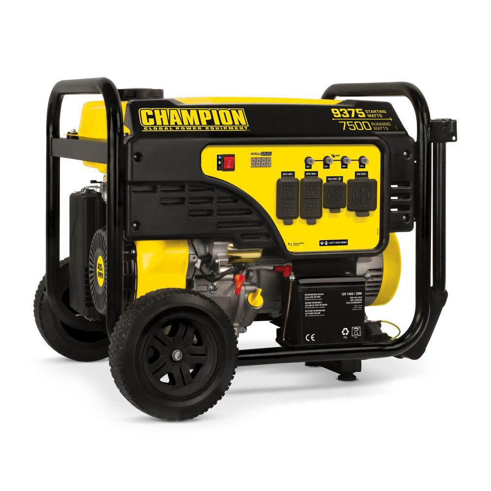 Champion - 7500-Watt Electric Start Gas Portable Generator