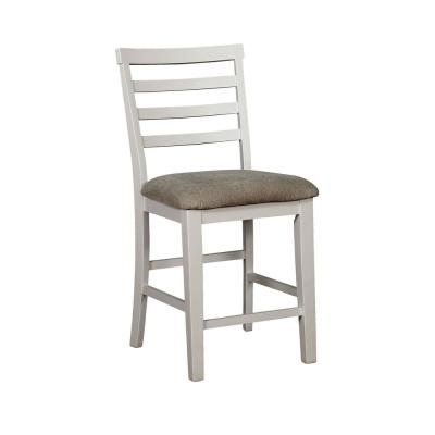 Martin White Weathered Oak Wood Ladder Pub Chair (Set of 2)