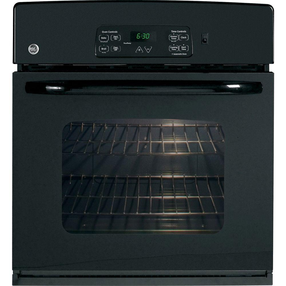 GE 27 in. Electric Single Wall Oven in Black