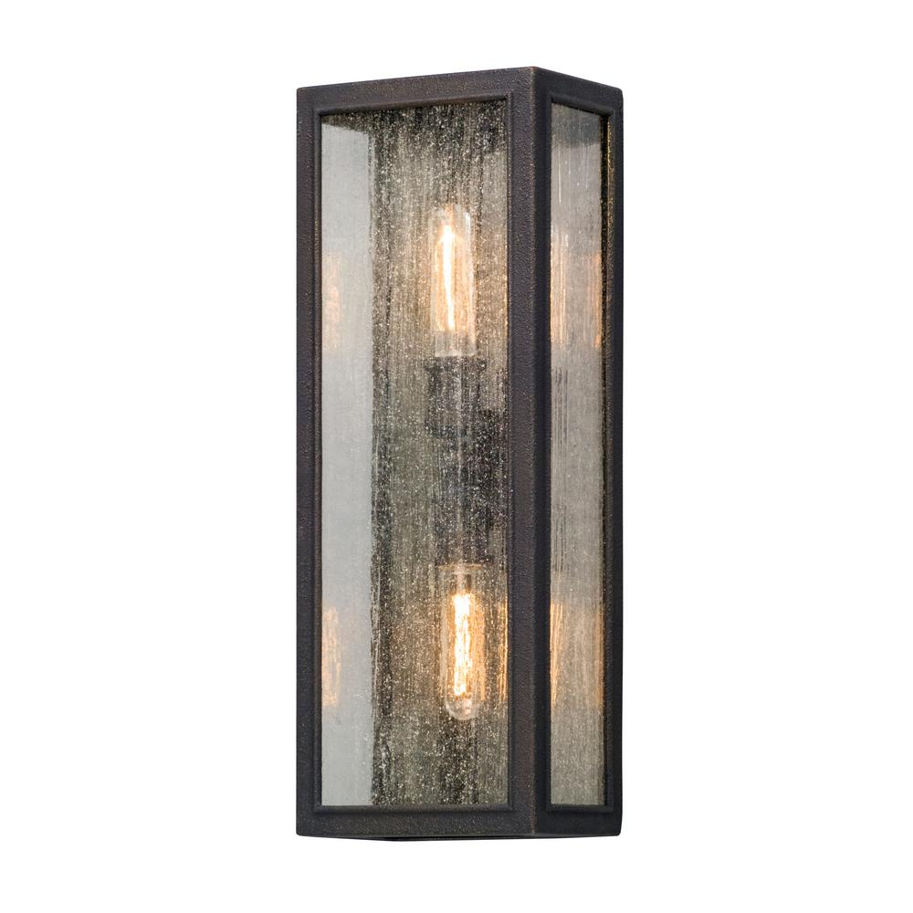 Troy Lighting Dixon 2 Light Vintage Bronze Outdoor Wall Lantern Sconce B5103 The Home Depot