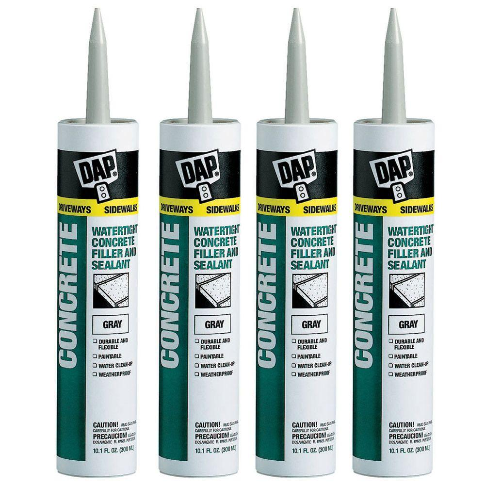 DAP 10.1 oz. Gray Watertight Concrete Sealant (4-Pack)-DISCONTINUED