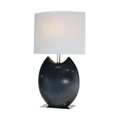 Designer Collection 19.5 in. White Table Lamp with White Fabric Shade