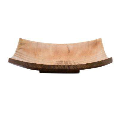 8 in. Natural Handmade Square Decorative Mango Wood Serving Tray