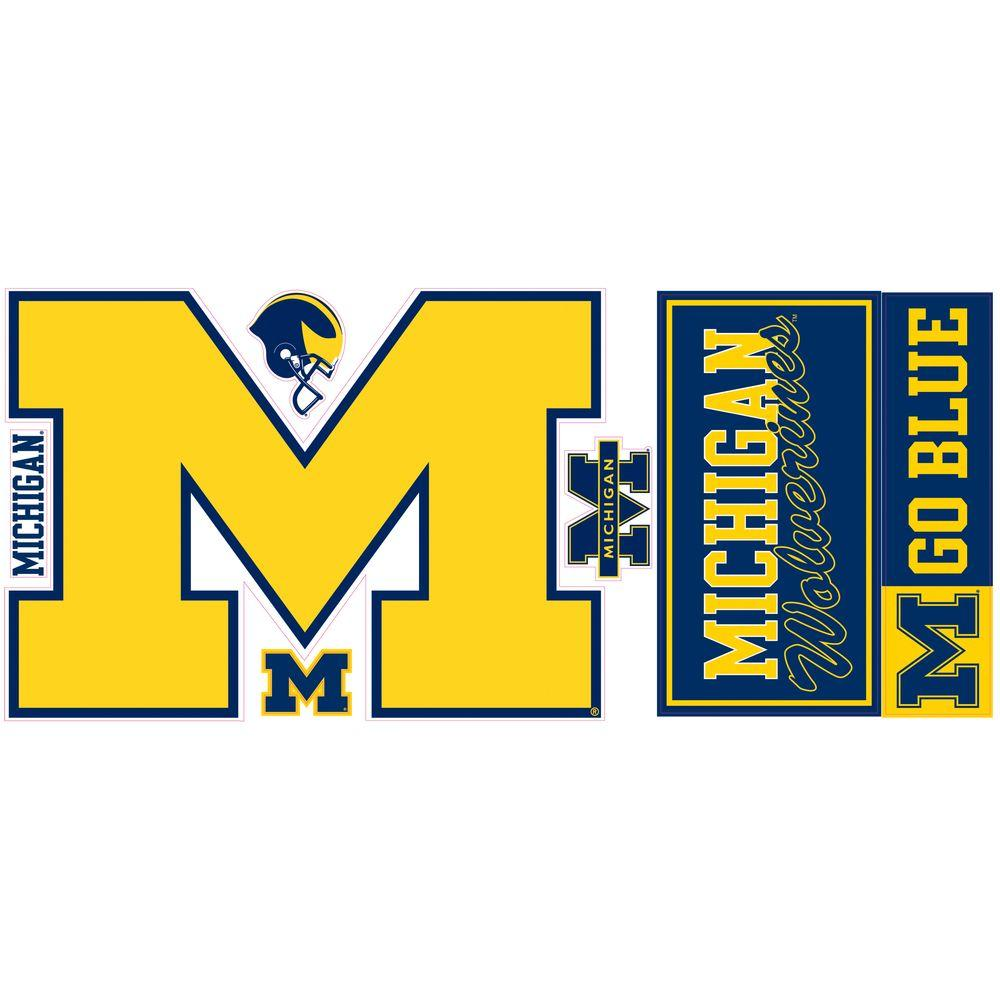 RoomMates University of Michigan Giant Peel and Stick Wall Decals