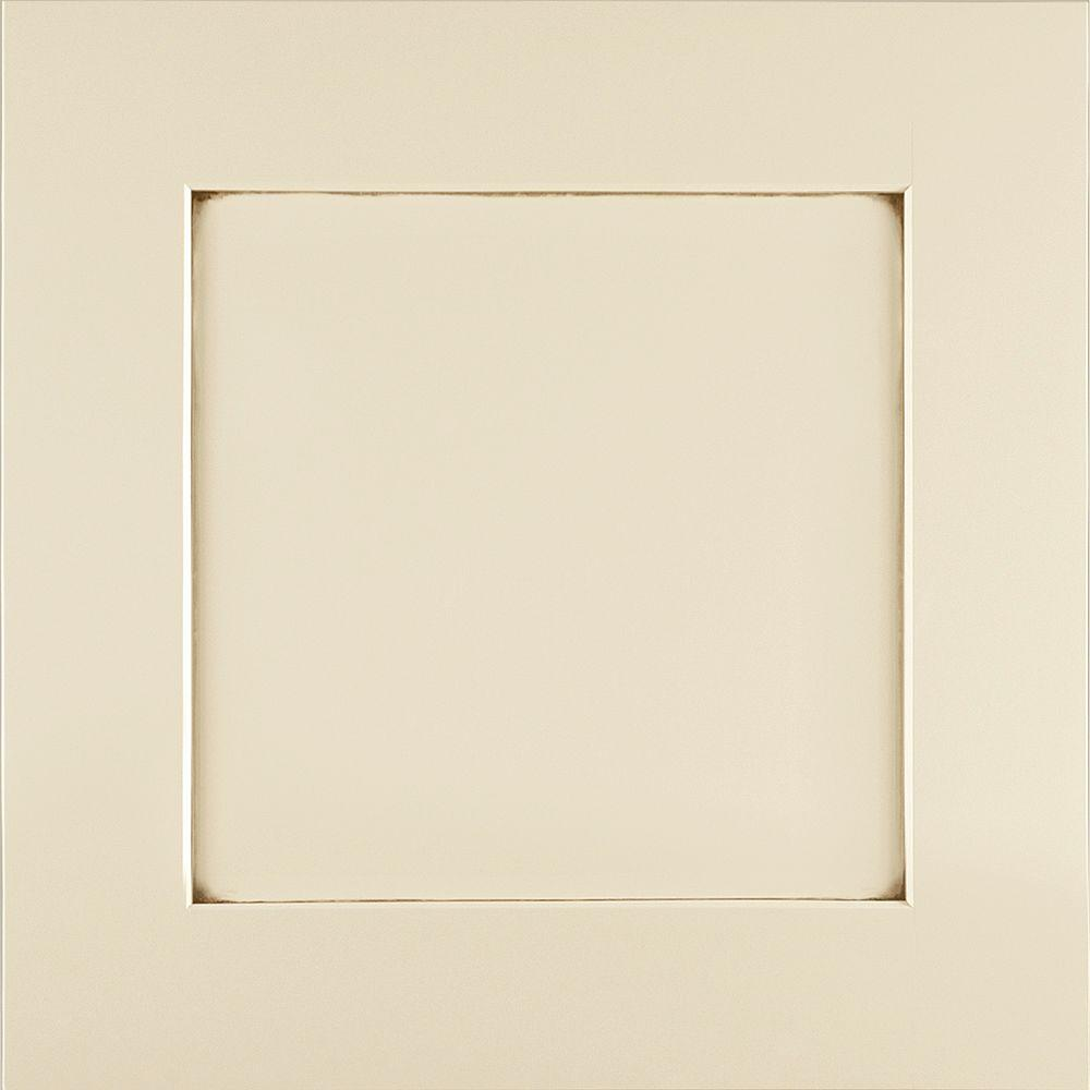 American Woodmark 14-9/16x14-1/2 in. Cabinet Door Sample in Reading Maple Hazelnut Glaze-DISCONTINUED