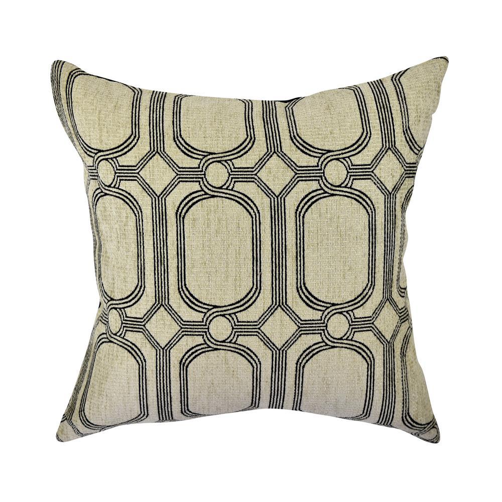 Honeycomb Jacquard Woven Throw Pillow