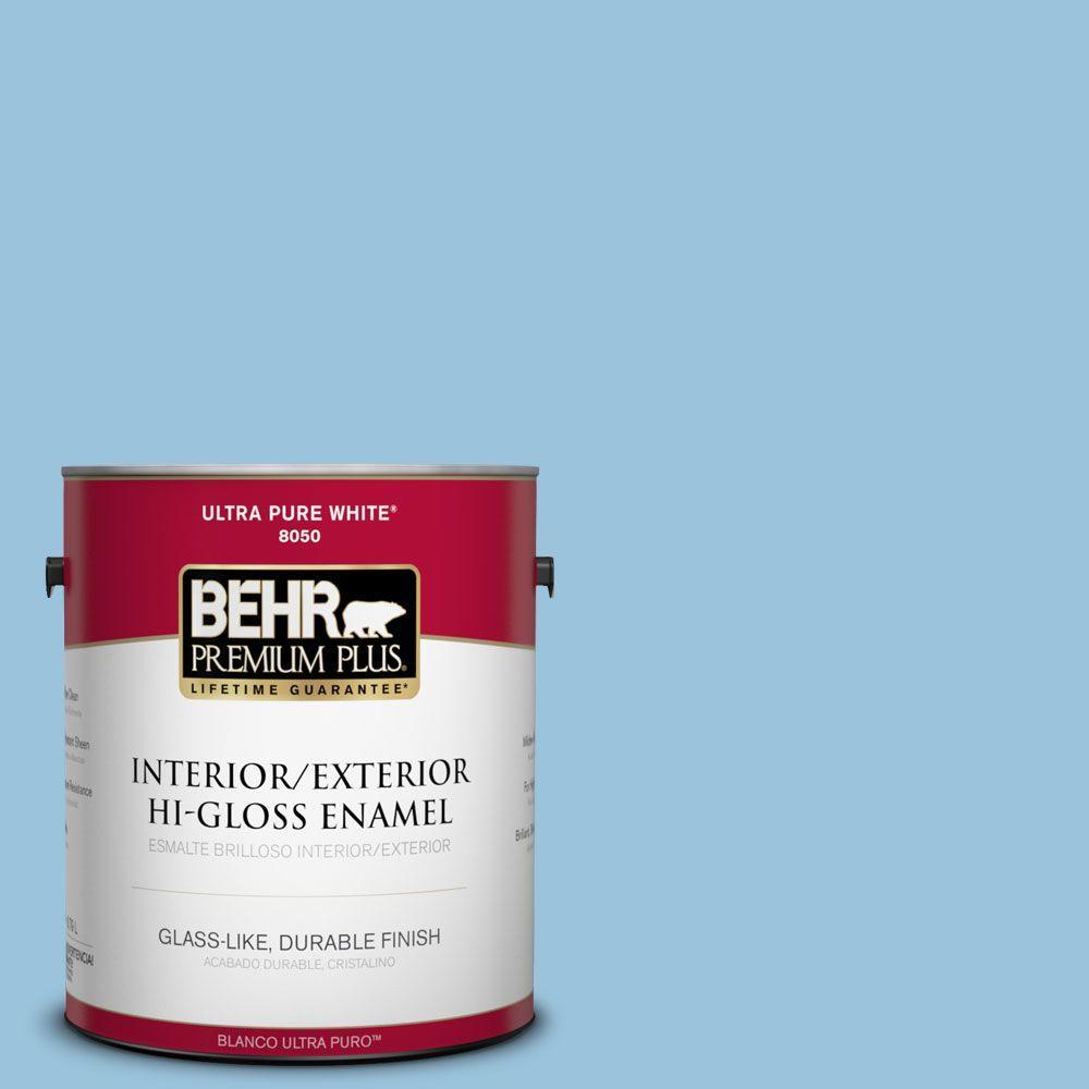 1-gal. #560D-4 Madras Blue Hi-Gloss Enamel Interior/Exterior Paint