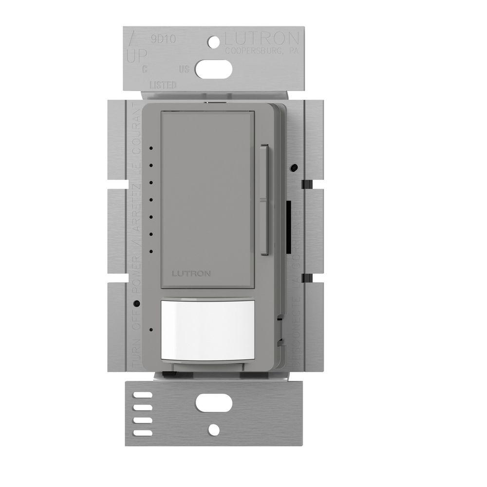 Maestro C.L Dimmer and Motion Sensor, Single Pole and Multi-Location, Gray