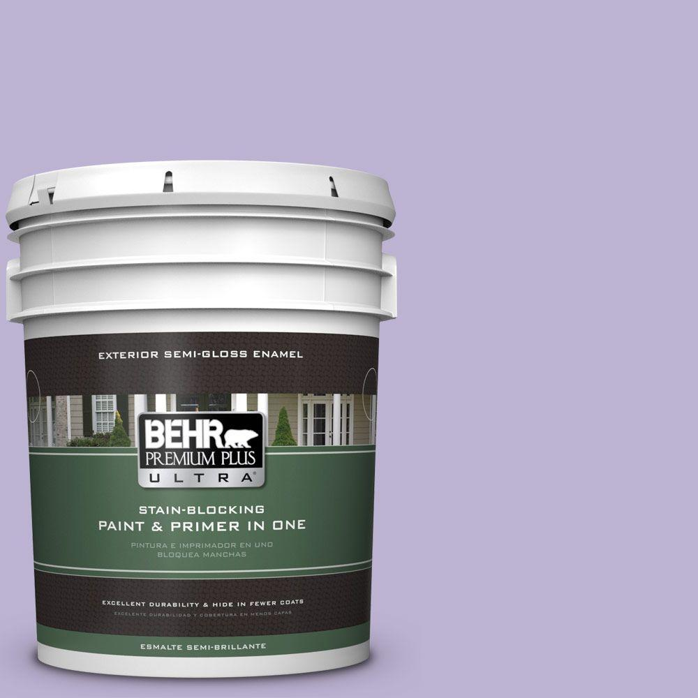 BEHR Premium Plus Ultra 5-gal. #M560-3 Grape Hyacinth Semi-Gloss Enamel Exterior Paint