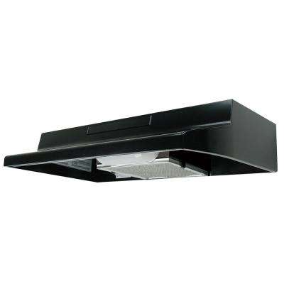 ENERGY STAR Certified 30 in. Under Cabinet Convertible Range Hood with Light in Black
