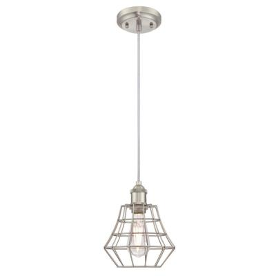 Nathaniel 1-Light Brushed Nickel Mini Pendant