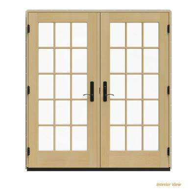 Wood French Patio Door Patio Doors Exterior Doors The Home Depot