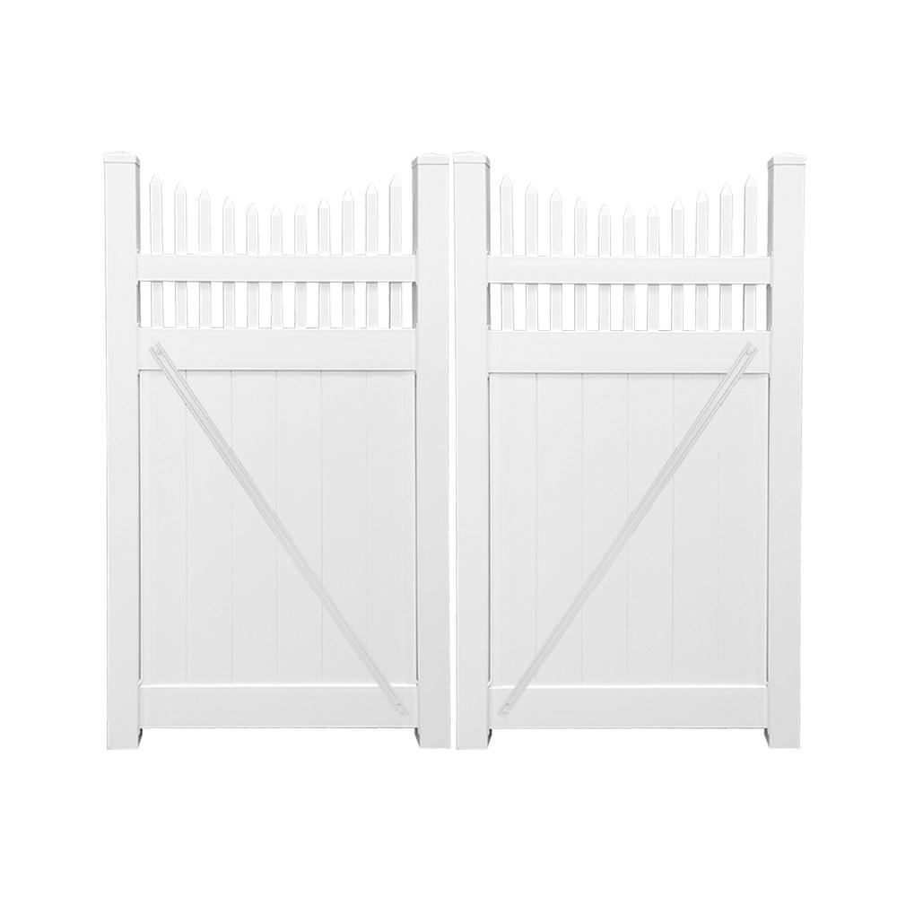 Halifax 7.4 ft. W x 5 ft. H White Vinyl Privacy
