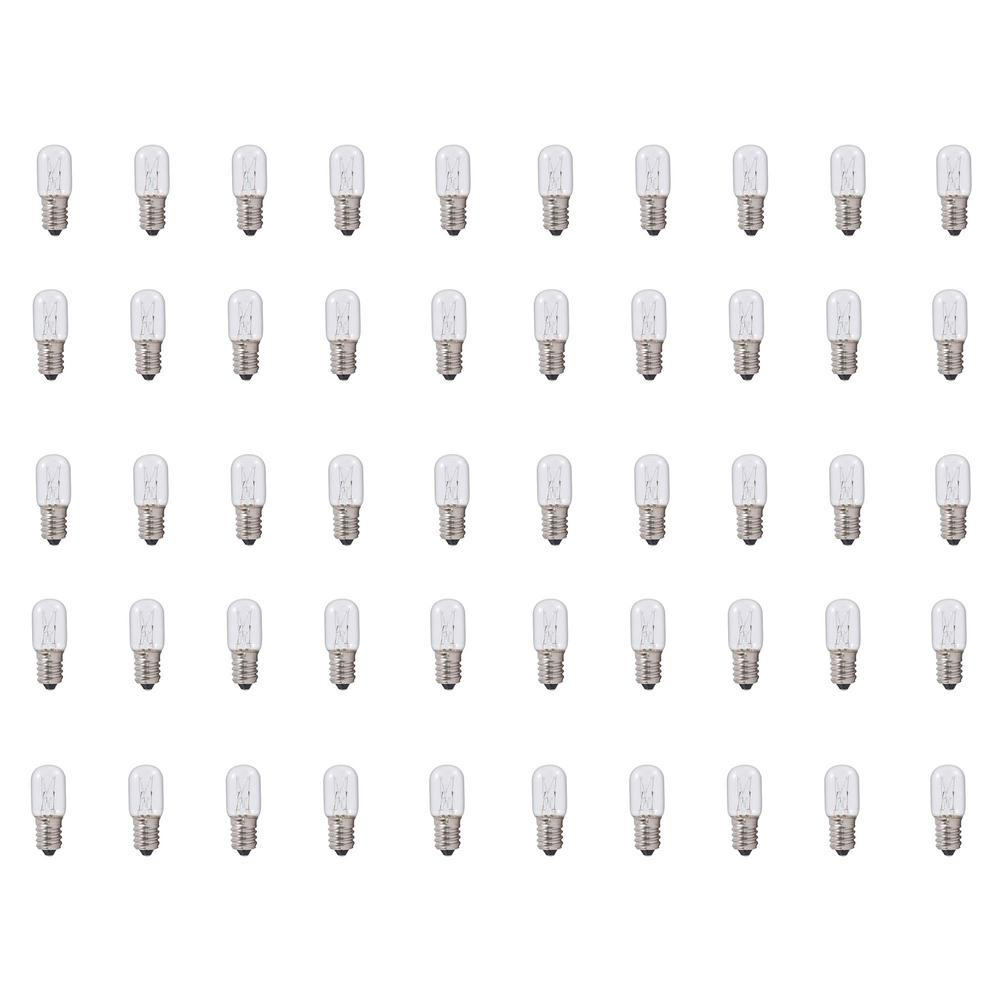 12-Watt T5.5 Clear Dimmable Warm White Light Incandescent Light Bulb (50-Pack)