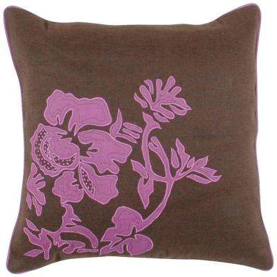 FloraC 18 in. x 18 in. Decorative Down Pillow