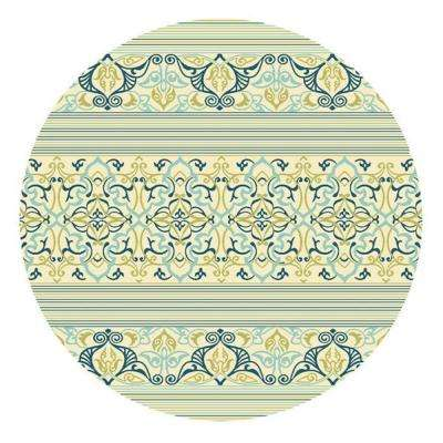 Blue Serenity 8 ft. x 8 ft. Round Area Rug