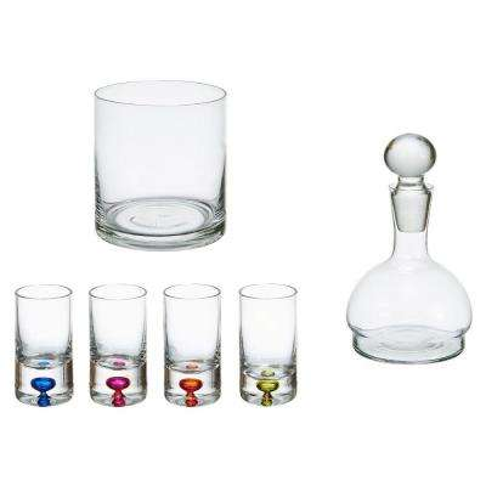 6-Piece Modern Glass Liquor Set