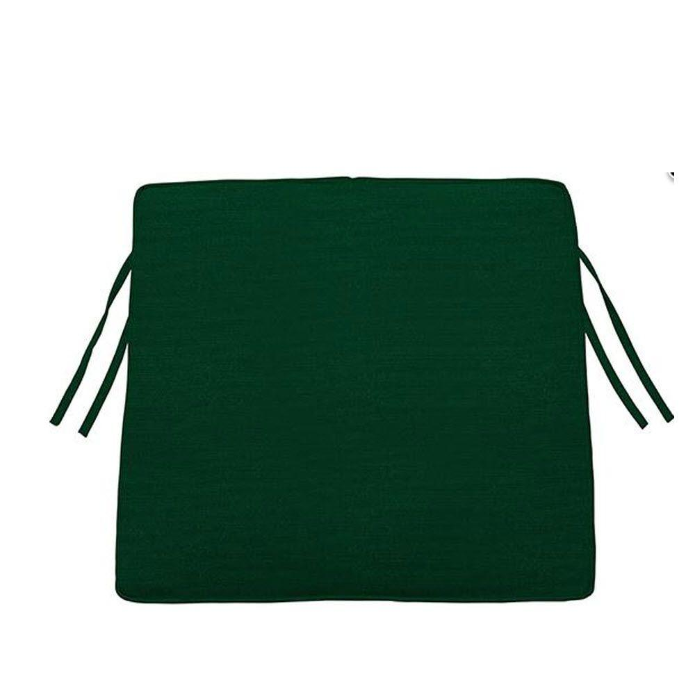 Home Decorators Collection Sunbrella Forest Green Trapezoid Outdoor Seat Cushion