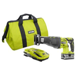 Ryobi 18-Volt ONE+ Reciprocating Saw Kit with Lithium Plus 4.0Ah Battery Charger and Bag by Ryobi
