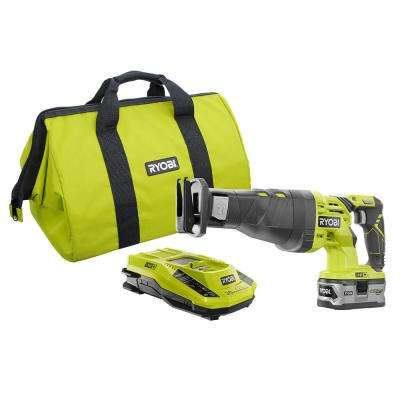 18-Volt ONE+ Reciprocating Saw Kit with Lithium Plus 4.0Ah Battery Charger and Bag