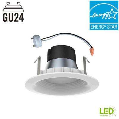 65W Equivalent Daylight 4 in. GU24 Dimmable Downlight LED Light Bulb