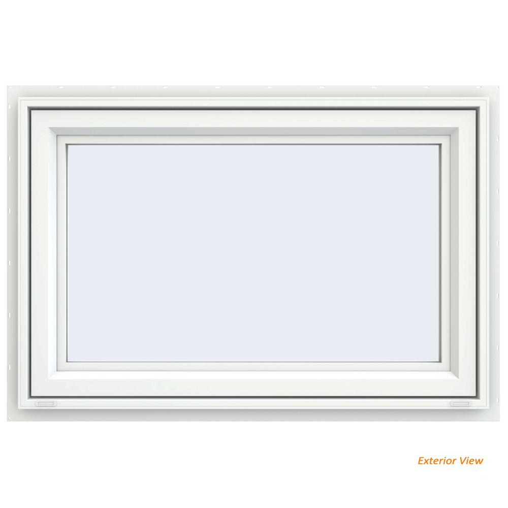 JELD-WEN 47.5 in. x 29.5 in. V-4500 Series White Vinyl ...