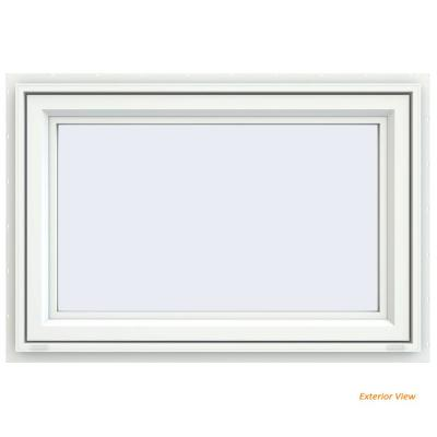 47.5 in. x 29.5 in. V-4500 Series White Vinyl Awning Window with Fiberglass Mesh Screen