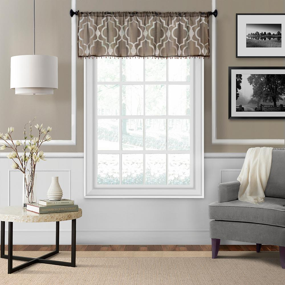 pictures of window valances bathroom ironwork sheer window valance scarves valances treatments the home depot