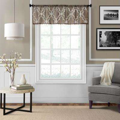 Montego 52 in. W x 15 in. L Ironwork Sheer Window Valance in Mink