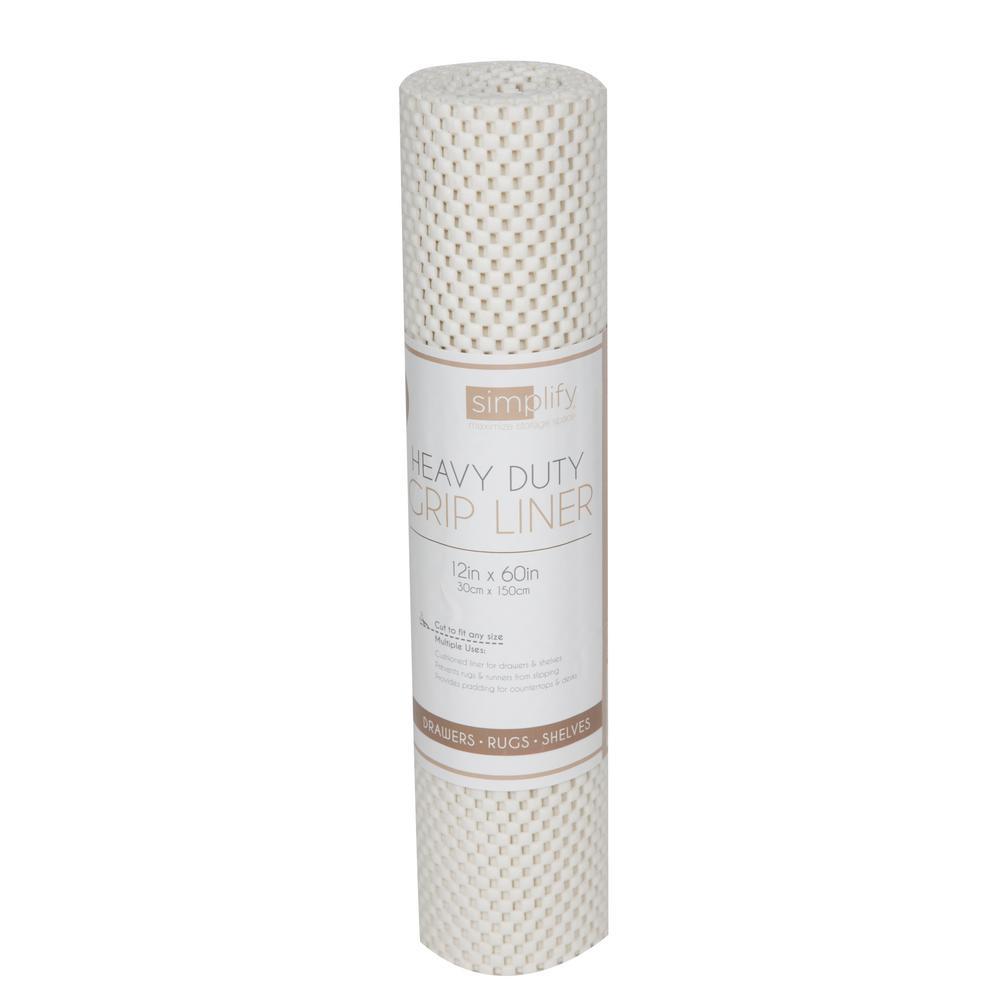 5 ft. Roll Ivory Heavy Duty Grip Shelf Liner