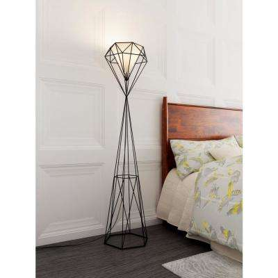 Delancey 63 in. Black Floor Lamp