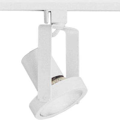 Alpha Trak Collection 1-Light White Track Lighting Head