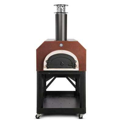 40 in. x 35-1/2 in. Mobile Wood Burning Pizza Oven in Copper