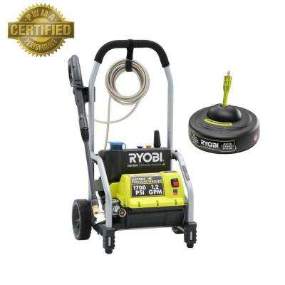 1,700-PSI 1.2-GPM Electric Pressure Washer with 11 in. Surface Cleaner