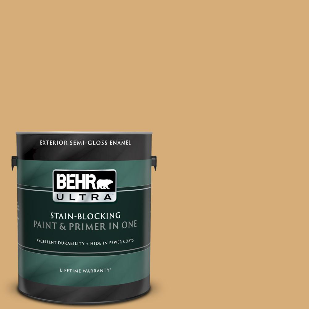Reviews For Behr Ultra 1 Gal M280 5 Inheritance Semi Gloss Enamel Exterior Paint And Primer In One 585401 The Home Depot