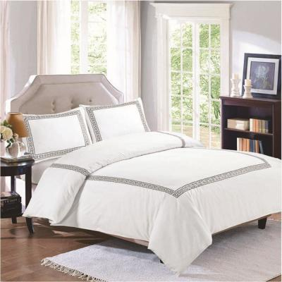 Milena Emb 3-Piece Cotton King Duvet Set in Smoked Pearl