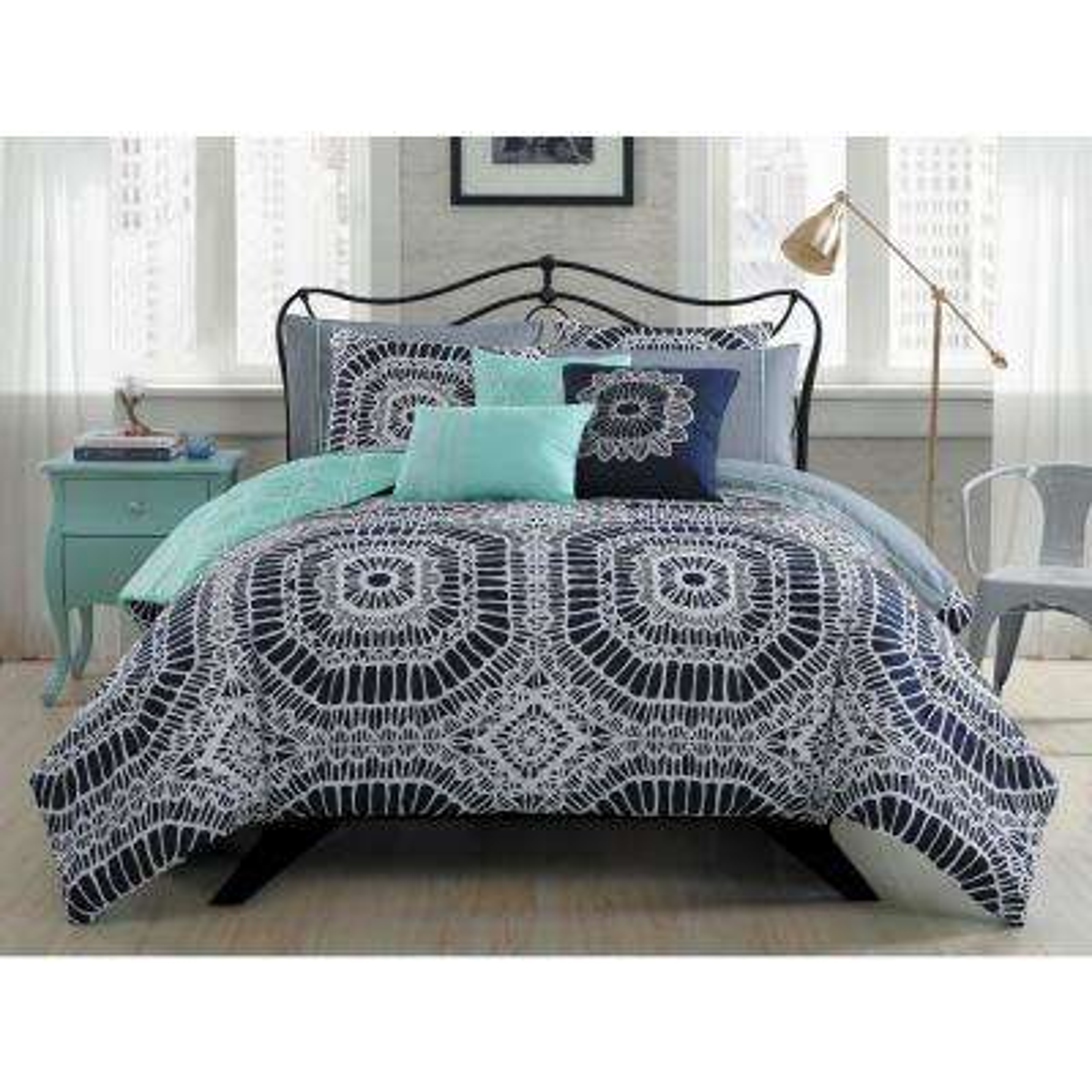 Petra 10-Piece BIAB King Navy Comforter