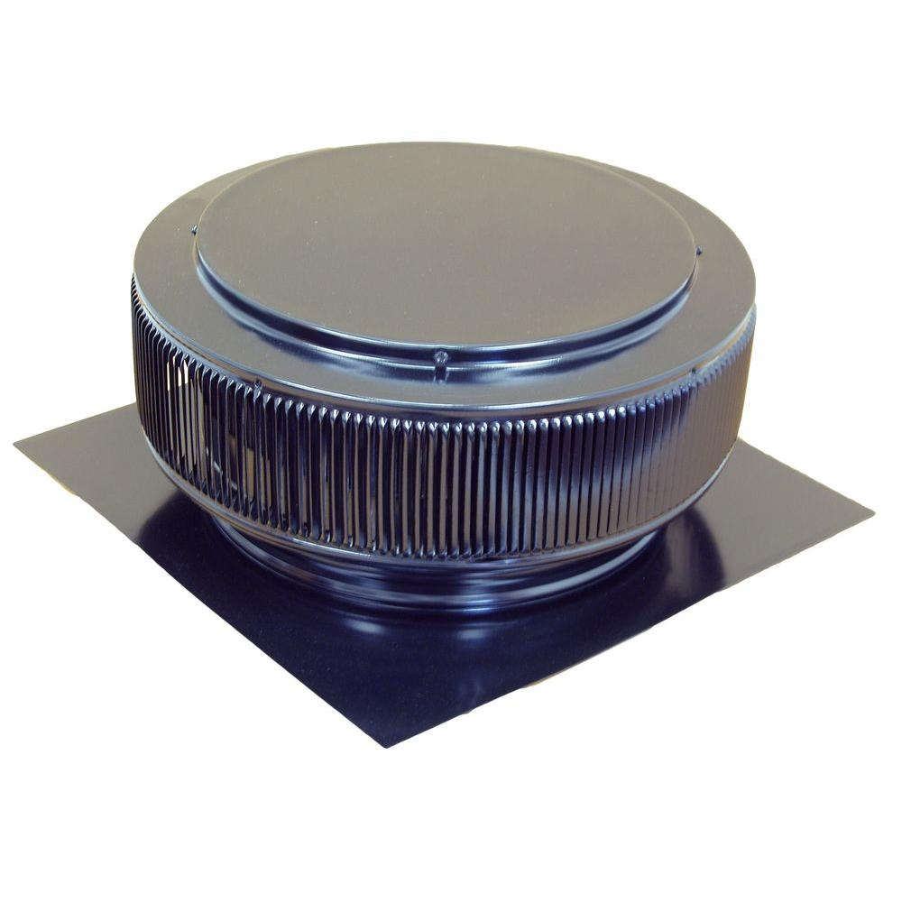 14 in. Black Powder Coated Aluminum Roof Vent No Moving Parts