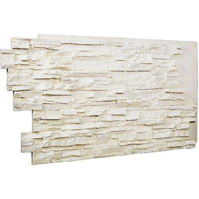 1-1/2 in. x 48 in. x 25 in. Dove White Urethane Stacked Stone Wall Panel