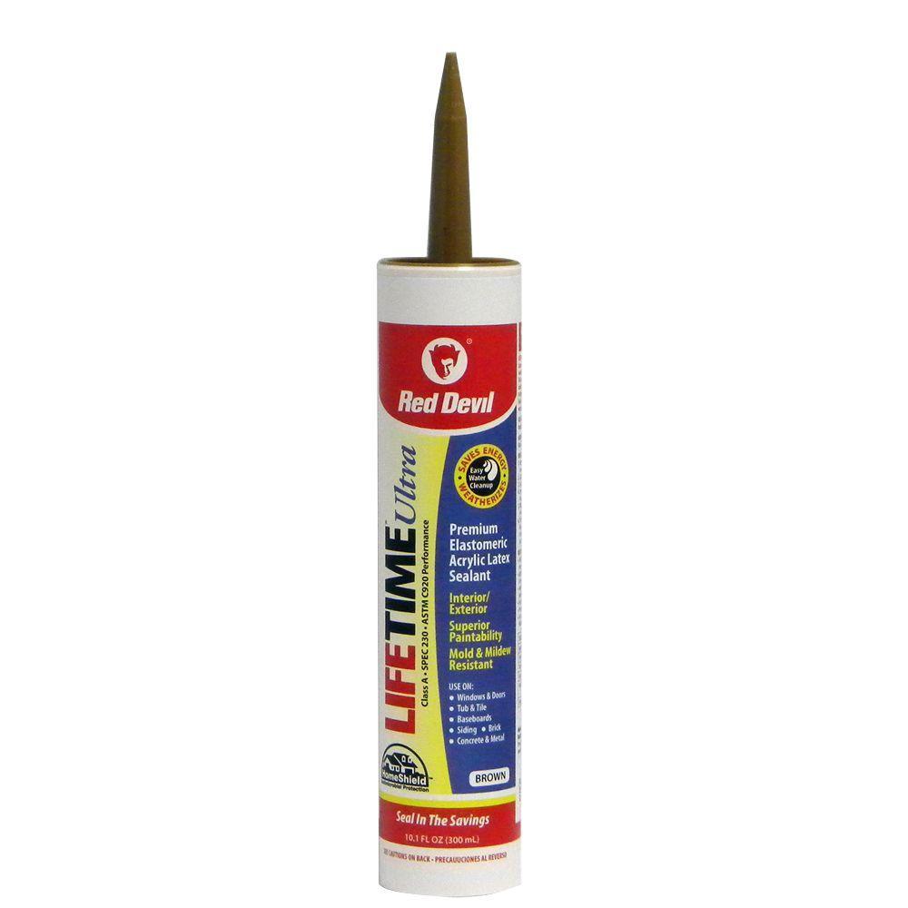 Lifetime 10 1 oz acrylic latex sealant 0770 40 the home depot - Exterior sealant paint decor ...