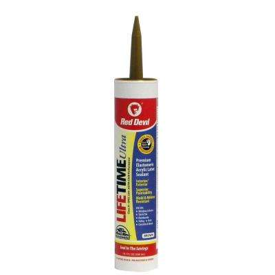 Lifetime Ultra 10.1 oz. Brown Acrylic Latex Caulk