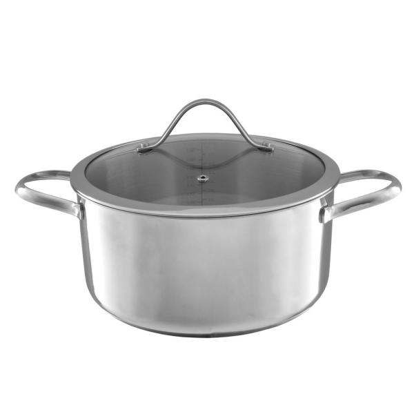 Classic Cuisine 6 Qt. Stainless Steel Stock Pot with Lid