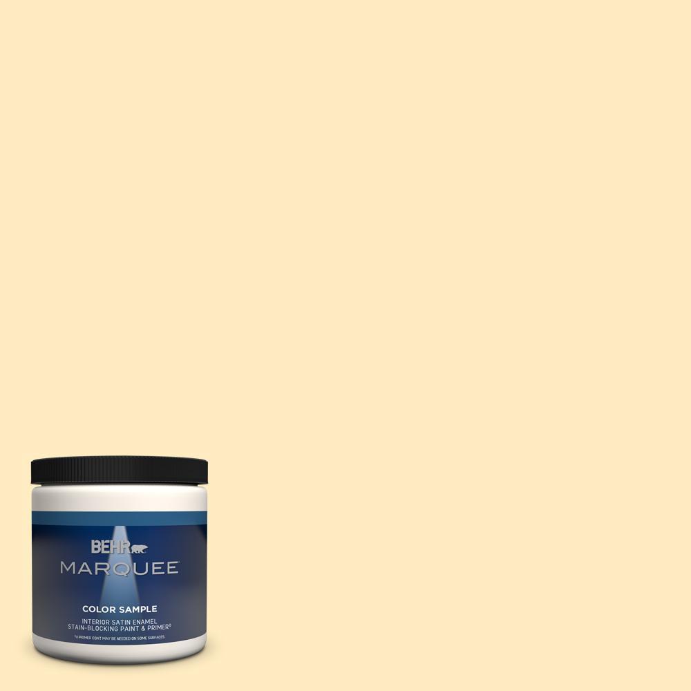 Behr Marquee 8 Oz P260 2 Yogurt Satin Enamel Interior Exterior Paint Primer Sample Mq32016 The Home Depot