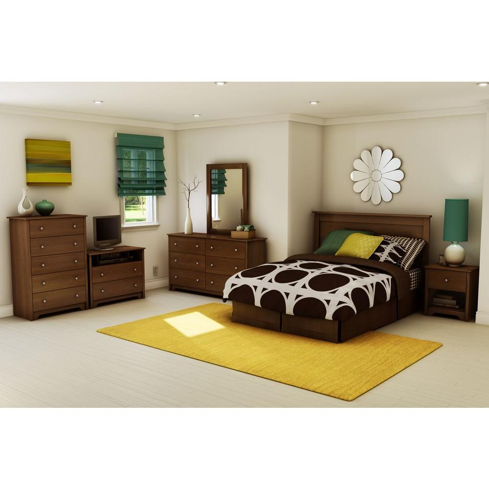 South Shore Vito Full/Queen-Size Headboard in Sumptuous Cherry