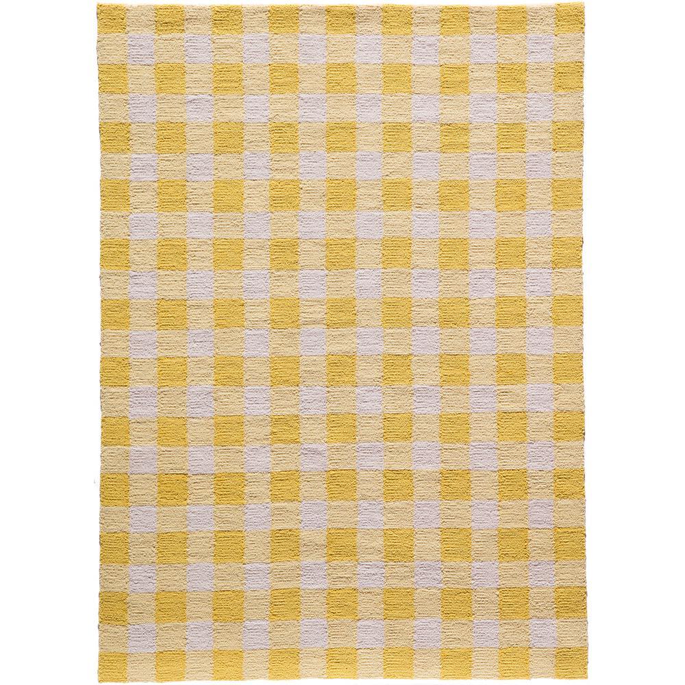 Geo Yellow 4 ft. x 6 ft. Indoor Area Rug