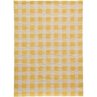 Geo Yellow 5 ft. x 7 ft. Indoor Area Rug