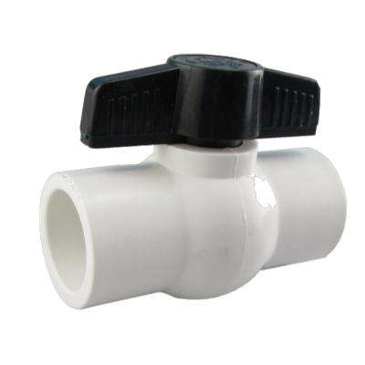 JAG Plumbing Packs  1/2 in. PVC FPT x FPT Molded-in-Place Ball Valve (12-Pack)