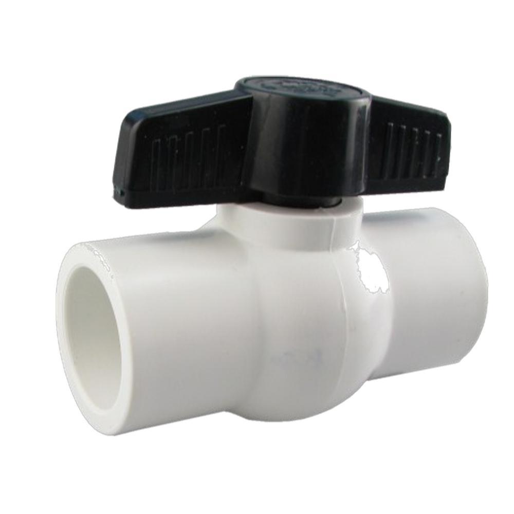 JAG Plumbing Packs 1-1/4 in. PVC SLIP x SLIP Molded-in-Place Compact Ball Valve (4-Pack)